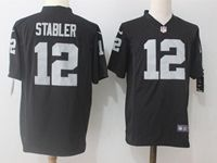 Mens Nfl Oakland Raiders #12 Ken Stabler Black Nike Game Jersey