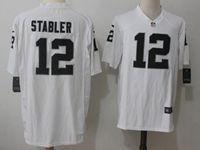 Mens Nfl Oakland Raiders #12 Ken Stabler White Nike Game Jersey