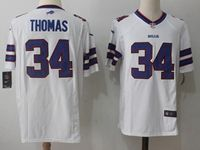 Mens Nfl Buffalo Bills #34 Thurman Thomas White Nike Game Jersey
