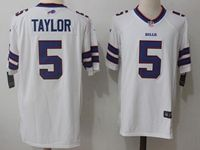 Mens Nfl Buffalo Bills #5 Tyrod Taylor White Nike Game Jersey