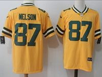 Mens Nfl Green Bay Packers #87 Jordy Nelson Yellow Vapor Untouchable Color Rush Limited Player Jersey
