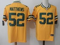 Mens Nfl Green Bay Packers #52 Clay Matthews Yellow Vapor Untouchable Color Rush Limited Player Jersey