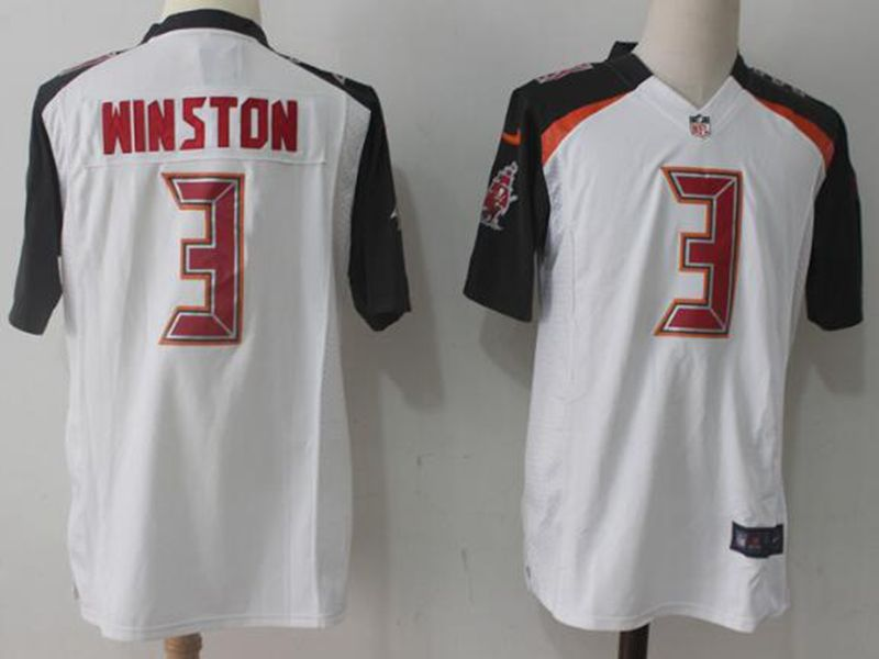 Mens Nfl Tampa Bay Buccaneers #3 Jameis Winston White Nike Game Jersey