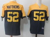 Mens Nfl Green Bay Packers #52 Clay Matthews Blue&yellow Game Jersey