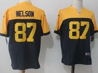 Mens Nfl Green Bay Packers #87 Nelson Blue&yellow Game Jersey