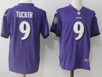 Mens Nfl Baltimore Ravens #9 Justin Tucker Purple Nike Game Jersey