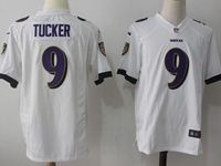 Mens Nfl Baltimore Ravens #9 Justin Tucker White Nike Game Jersey
