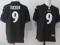 Mens Nfl Baltimore Ravens #9 Justin Tucker Black Nike Game Jersey