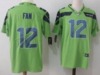 Mens Nfl Seattle Seahawks #12 Fan Green Vapor Untouchable Color Rush Limited Player Jersey