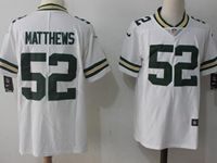 Mens Green Bay Packers #52 Clay Matthews White Vapor Untouchable Color Rush Limited Player Jersey