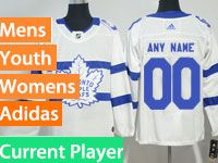 Mens Women Youth Adidas Toronto Maple Leafs White 2018 Stadium Series Current Player Jersey
