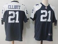 Mens Nfl Dallas Cowboys #21 Ezekiel Elliott Blue Thanksgiving Game Jersey