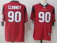 Mens Nfl Houston Texans #90 Jadeveon Clowney Red Nike Game Jersey