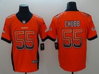 Mens Nfl Denver Broncos #55 Bradley Chubb Orange Drift Fashion Vapor Untouchable Limited Jersey