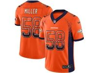 Mens Nfl Denver Broncos #58 Von Miller Orange Drift Fashion Vapor Untouchable Limited Jersey