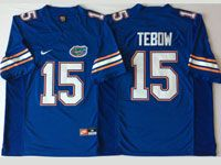 Mens Ncaa Nfl Florida Gators #15 Tebow Blue Jersey
