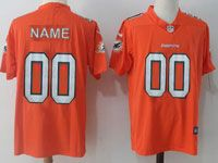 Mens Women Youth Nfl Miami Dolphins (custom Made) Orange Vapor Untouchable Limited Player Jersey
