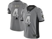 Mens Nfl Oakland Raiders #4 Derek Carr Gray Drift Fashion Vapor Untouchable Limited Jersey