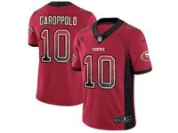 Mens Nfl San Francisco 49ers #10 Jimmy Garoppolo Red Drift Fashion Vapor Untouchable Limited Jersey