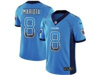 Mens Nfl Tennessee Titans #8 Marcus Mariota Blue Drift Fashion Vapor Untouchable Limited Jersey