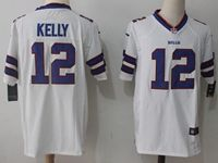 Mens Nfl Buffalo Bills #12 Jim Kelly White Nike Game Jersey