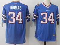 Mens Nfl Buffalo Bills #34 Thurman Thomas Blue Nike Game Jersey
