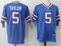 Mens Nfl Buffalo Bills #5 Tyrod Taylor Blue Nike Game Jersey