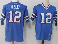 Mens Nfl Buffalo Bills #12 Jim Kelly Blue Nike Game Jersey