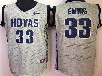 Mens Ncaa Nfl Georgetown Hoyas #33 Ewing Gray Jersey