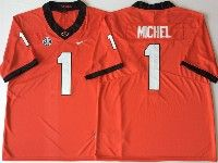 Mens Ncaa Nfl Georgia Bulldogs #1 Michel Red Sec Limited Jersey