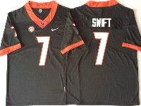 Mens Ncaa Nfl Georgia Bulldogs #7 Swift Black Jersey