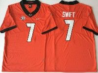 Mens Ncaa Nfl Georgia Bulldogs #7 Swift Red Jersey