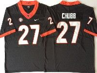 Youth Ncaa Nfl Georgia Bulldogs #27 Nick Chubb Black Limited Jersey