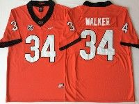 Mens Ncaa Nfl Georgia Bulldogs #34 Herchel Walker Red Jersey