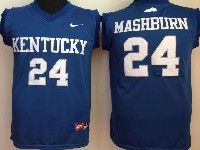 Mens Ncaa Nba Kentucky Wildcats #24 Mashburn Blue Jersey