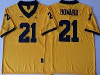 Mens Ncaa Nfl Jordan Brand Michigan Wolverines #21 Desmond Howard Yellow Limited Jersey