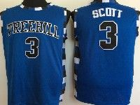 Mens Nba Movie One Tree Hill #3 Scott Blue Jersey