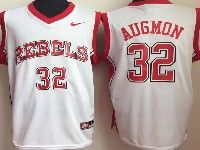 Mens Ncaa Nba Ole Miss Rebels #32 Augmon White College Jersey