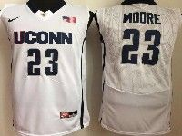 Mens Ncaa Nba Uconn Huskies #23 Moore White Jersey