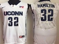 Mens Ncaa Nba Uconn Huskies #32 Hamilton White Jersey