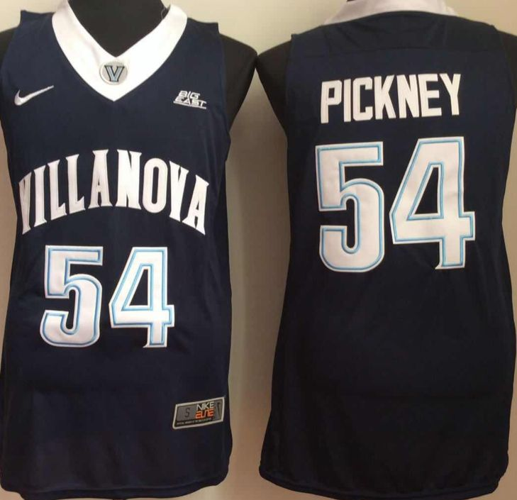 Mens Ncaa Nba Villanova Wildcats #54 Pickney Navy Blue Jersey