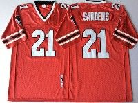 Mens Nfl Atlanta Falcons #21 Sanders Red Throwbacks Jersey
