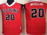 Mens Ncaa Nba St.john's #20 Mullin Red Jersey