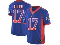 Mens Nfl Buffalo Bills #17 Josh Allen Blue Drift Fashion Vapor Untouchable Limited Jersey
