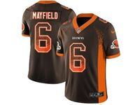 Mens Nfl Cleveland Browns #6 Baker Mayfield Brown Drift Fashion Vapor Untouchable Limited Jersey