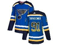 Mens Nhl St.louis Blues #91 Vladimir Tarasenko Blue Drift Fashion Home Adidas Jersey