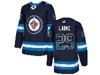 Mens Nhl Winnipeg Jets #29 Patrik Laine Dark Blue Drift Fashion Home Adidas Jersey