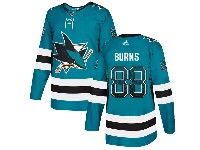 Mens San Jose Sharks #88 Brent Burns Drift Fashion Home Blue Adidas Jersey