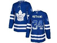 Mens Adidas Nhl Toronto Maple Leafs #34 Auston Matthews Blue Drift Fashion Home Jersey