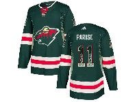 Mens Nhl Minnesota Wild #11 Zach Parise Green Drift Fashion Home Adidas Jersey
